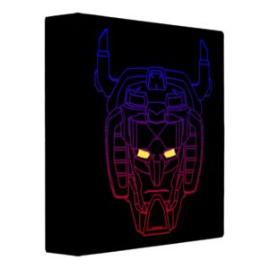 Voltron | Blue-Red Gradient Head Outline 3 Ring Binder