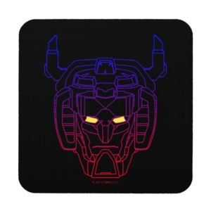 Voltron   Blue-Red Gradient Head Outline Coaster