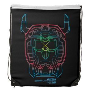 Voltron | Pilot Colors Gradient Head Outline Drawstring Backpack