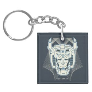 Voltron | Voltron Head Blue and White Outline Keychain