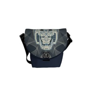 Voltron | Voltron Head Blue and White Outline Messenger Bag