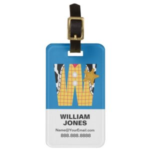 W is for Woody | Add Your Name Bag Tag