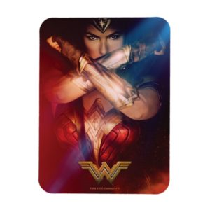 Wonder Woman Blocking With Bracelets Magnet