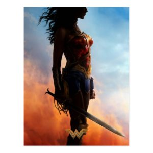 Wonder Woman Duststorm Silhouette Postcard