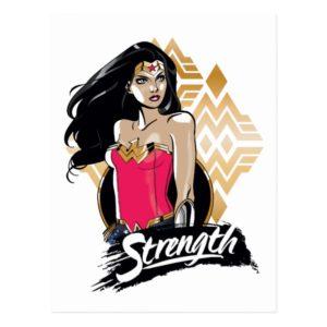 Wonder Woman Strength Postcard