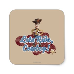 Woody: Lets Ride, Cowboy Square Sticker