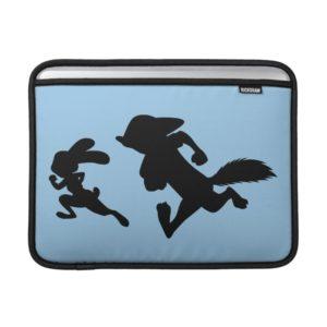 Zootopia   Judy & Nick Running Silhouette MacBook Air Sleeve