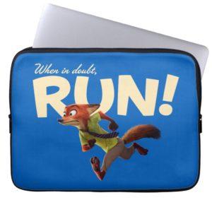 Zootopia | Nick Wilde - When in Doubt, RUN! Laptop Sleeve