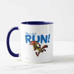Zootopia | Nick Wilde - When in Doubt, RUN! Mug