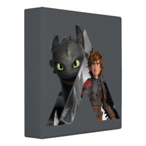 Alpha Dragon Toothless & Hiccup 3 Ring Binder