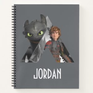 Alpha Dragon Toothless & Hiccup Notebook