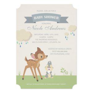 Bambi   Neutral Baby Shower Invitation