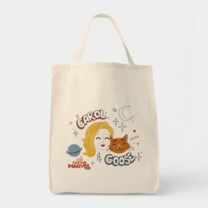 Captain Marvel | Carol & Goose Illustration Tote Bag