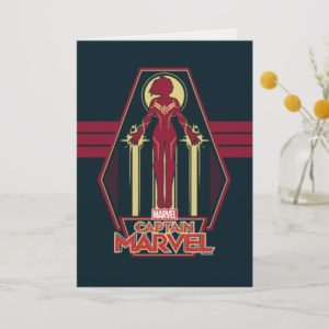 Captain Marvel | Flying Character Badge Card