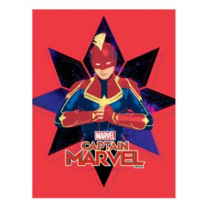 Captain Marvel | Galactic Star Character Graphic Postcard