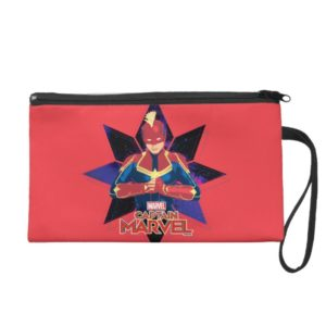 Captain Marvel | Galactic Star Character Graphic Wristlet