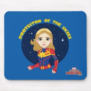 Captain Marvel | Protector Of The Skies Cartoon Mouse Pad