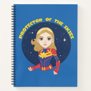 Captain Marvel | Protector Of The Skies Cartoon Notebook