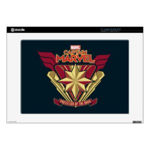"Captain Marvel | Protector Of The Skies Star Badge 15"" Laptop Decal"