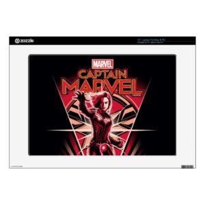 "Captain Marvel | Shining Captain Marvel Badge 15"" Laptop Decal"