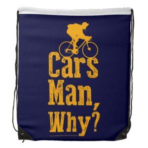 Cars Man, Why? Drawstring Bag