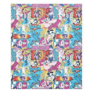 Comic Pattern Fleece Blanket