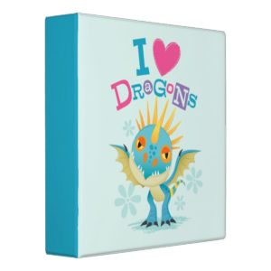 """Cute """"I Love Dragons"""" Stormfly Graphic 3 Ring Binder"""