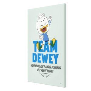 Dewey Duck   Team Dewey - Adventure Canvas Print
