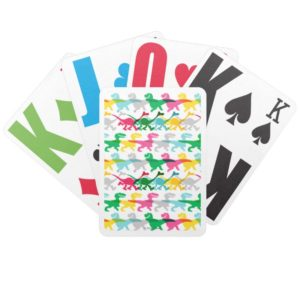 Dino Color Pattern Bicycle Playing Cards