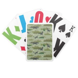 Dinosaurs Running Camo Pattern Bicycle Playing Cards