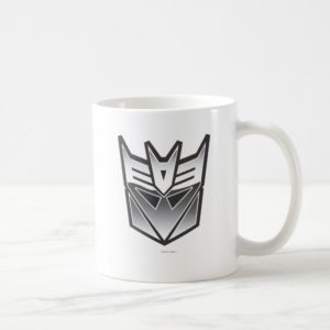 G1 Decepticon Shield BW Coffee Mug
