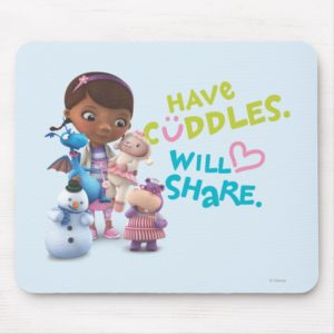Have Cuddles Will Share Mouse Pad