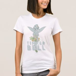Tinker Bell Sketch With Jewel Flowers T-Shirt