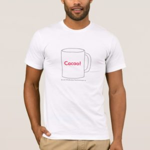 Cacao! White Basic American T-Shirt