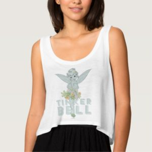 Tinker Bell Sketch With Jewel Flowers Tank Top
