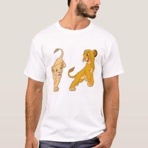 Lion King's Simba and Nala Playing Disney T-Shirt