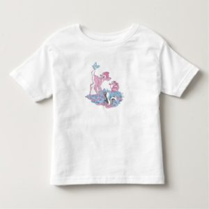 Bambi, Thumper, and Flower with Butterfly Toddler T-shirt