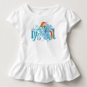 My Little Pony   Rainbow Dash Watercolor Flowers Toddler T-shirt