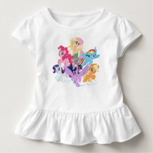 My Little Pony   Mane Six on Clouds Toddler T-shirt