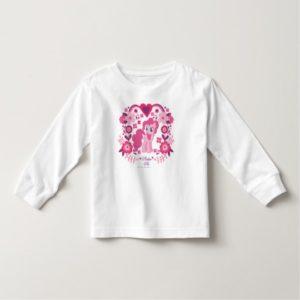 Pinkie Pie Floral Design Toddler T-shirt