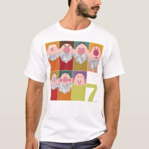 Seven Dwarfs Stylized Character Art T-Shirt