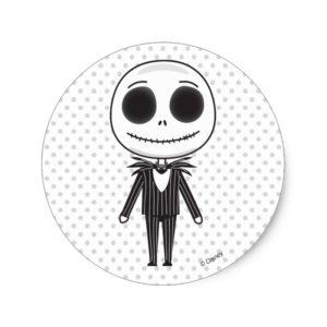 Jack Skellington Emoji Classic Round Sticker