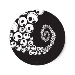 Jack Skellington | Skull Swirl Classic Round Sticker