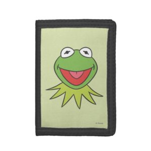 Kermit the Frog Cartoon Head Trifold Wallet