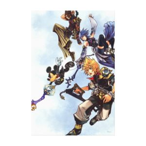 Kingdom Hearts: Birth by Sleep | Main Cast Box Art Canvas Print
