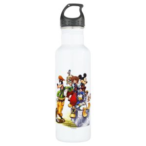 Kingdom Hearts: coded | Group Key Art Stainless Steel Water Bottle