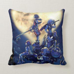 Kingdom Hearts | Heart Moon Box Art Throw Pillow