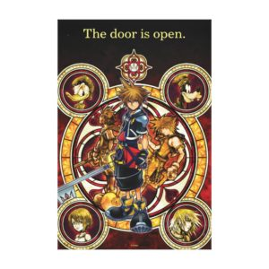 Kingdom Hearts II | Gold Stained Glass Key Art Canvas Print