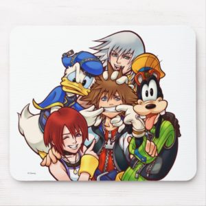 Kingdom Hearts | Main Cast Illustration Mouse Pad