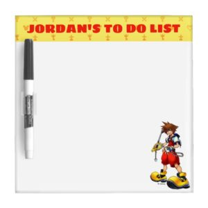 Kingdom Hearts | Sora Character Illustration Dry Erase Board
